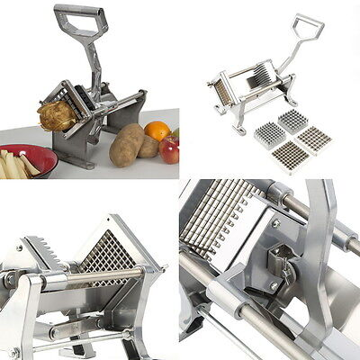 Potato French Fry Fruit Vegetable Cutter Slicer Commercial Quality W/ 3 Blades W