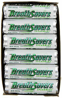 Breath Savers Mints, Spearmint, 0.75-Ounce Rolls (Pack of 24)  NEW FREE SHIPPING