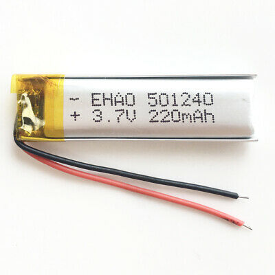 3.7V 220mAh Lipo polymer Battery cell 501240 For Bluetooth GPS MP3 headset + PCM