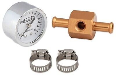 Mr Gasket 1560 Chrome Fuel Pressure Gauge With In-Line Adapter