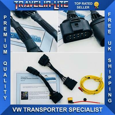 For VW T5 Transporter T5 To T5.1 Facelift Conversion Headlight Harness Connector