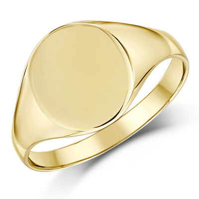 Ladies Signet Ring 9ct Yellow Gold Oval Shape