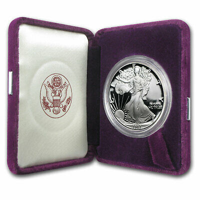 1987-S 1 oz Proof Silver American Eagle (w/Box & COA) - SKU #1086