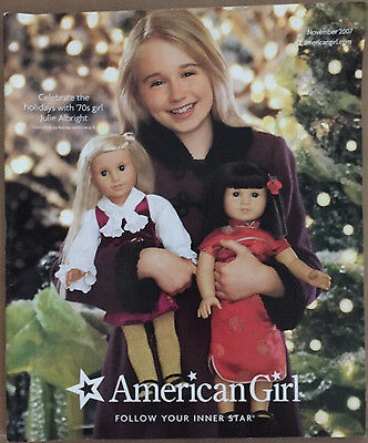 American Girl Catalog 2007 November Julie Albright Ivy Ling Molly McIntire Kaya
