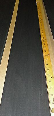 "Dyed Black Poplar wood veneer 8"" x 103"" raw no backing 1/42"" thickness ""A"" grade"