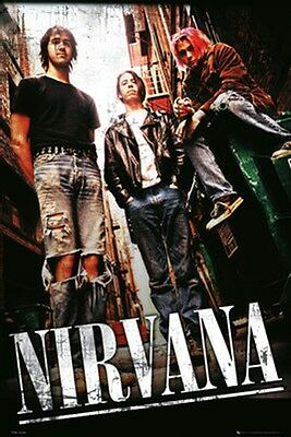 Nirvana Alley Music Poster Print Kurt Cobain Dave Grohl Nevermind New 24x36 G1