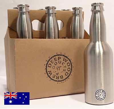 2 x 350ml Stainless Steel Beer Bottles for Home brewing