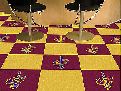 "Fanmats NBA-Cleveland Cavaliers Carpet Tiles 18"" x 18in tiles- 9236 NEW"