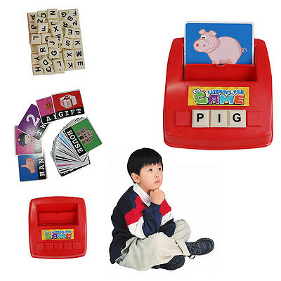 Kids Alphabet Card Spelling Game Platter Science educational assembly toys games