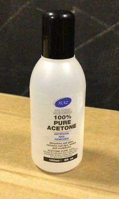 HAZ 100% Pure Acetone Nail Polish Remover 250ml Glue Tips Wraps Sculptures