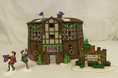 Dept 56 THE OLD GLOBE THEATRE Dickens Village HISTORICAL LANDMARK 4 pc Set 58501