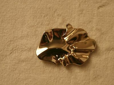 """Rovoor Belt Buckle Designer Stamped Two Piece Medium 4"""" Size Gold Plated"""