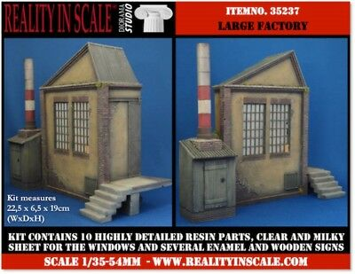 Reality In Scale 1:35 Large Factory - Resin Diorama Accessory #35237