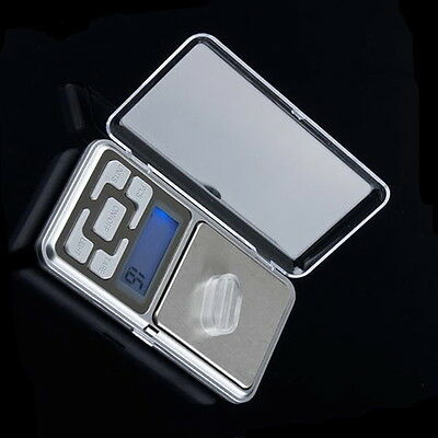 Stainless steel 500g 0.1g Digital Electronic LCD Jewelry Pocket Weight Scale WD