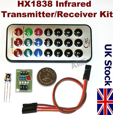 Infrared Receiver n Remote Control Module IR Kit HX1838 for Arduino - UK Stock