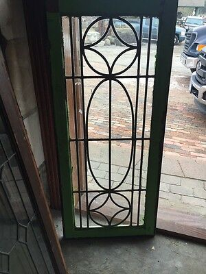 Sg 398 Antique All Leaded Glass Transom Window