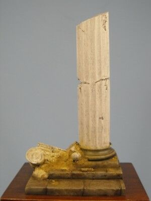 Reality In Scale 1:35 Ruined Column Figure Base - Resin Diorama Accessory #35055