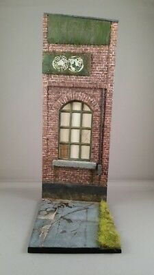 Reality In Scale 1:35 Large Factory Facade W Base Resin Decal Diorama Acc #35250