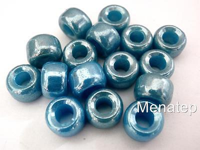 Alabaster 25 5 x 9 mm Czech Glass Roller//Crow Beads