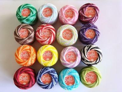 Lot 16 Balls Variegated #8 Perle/pearl Cotton Threads Hardanger Hand Embroidery