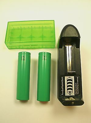2- High Drain 2600 mAh Sony Replacement 3.7 Volt 30 Amp 18650 Battery VTC5