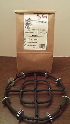 """$Bundle buy$ 3lbs Red Frog Organic Compost Tea AND 9 1/2"""" Brewing Aerator"""