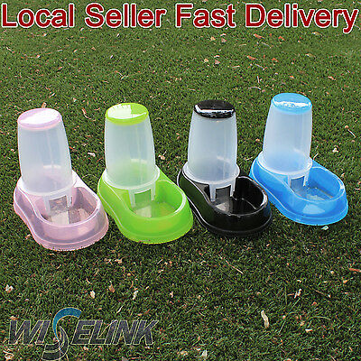 Automatic Pet Dog Cat Food Feeder 1.8 liters Bowl Dispenser Transparen Plastic