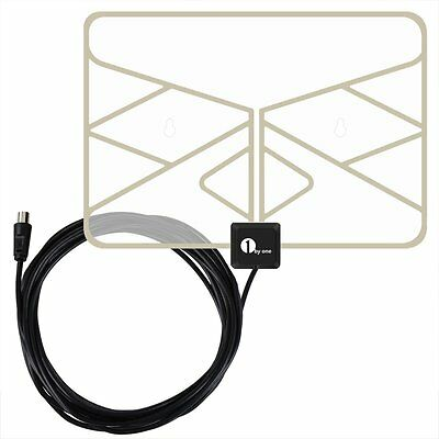 1Byone Paper Thin Transparent Digital TV Aerial Indoor  for VHF / UHF / FM