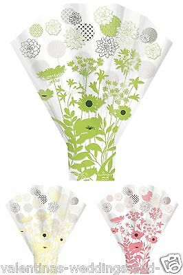 Floral Cellophane Wrap Bouquet Sleeve Cone Flower Sweet Cupcake