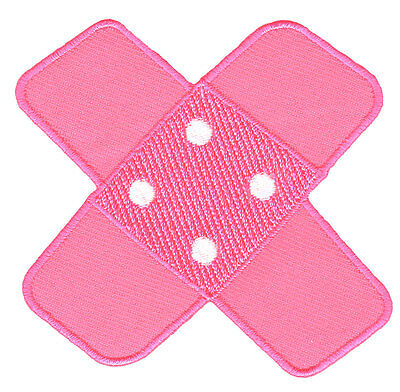 bg07 Pflaster Pink Rosa Aufnäher Bügelbild Patch Kinder Baby Flicken Applikation