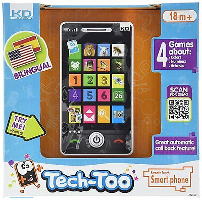 Kidz Delight Smooth Touch Smart Phone (K12550) Ages 18 months and up, BRAND NEW