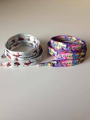 1 x Pair Character Shoe Laces My Little Pony Spiderman Lego Monster High