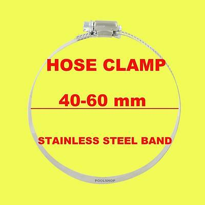 Hose Clamp Clamps 40 50 60 Mm Stainless Steel Pool Backwash Radiator Irrigation