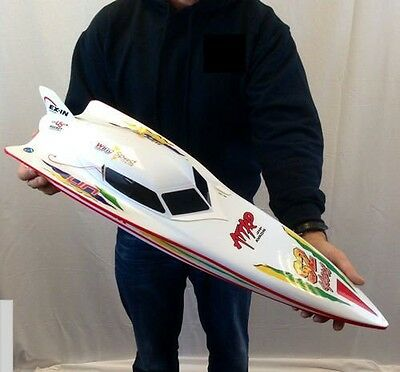 7000 RC Remote Radio Control Syma WHITE Stealth Racing Speed Boat **UK SELLER**