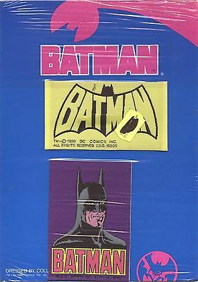 Batman 2 Woven Patches FRom 1989 In Original Packing RARE !!