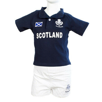 Children's Scotland Rugby Kit - Navy Blue - Sizes To Fit Ages 0 To 8 Years!