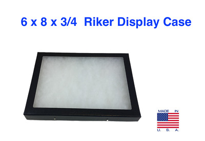 6 x 8 x 3/4 Riker Display Case Box for Collectibles Jewelry Arrowheads & More