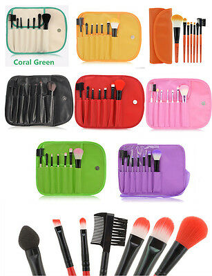7pcs Makeup Brushes Cosmetic Set Powder Foundation Eyeshadow Brush Tool case
