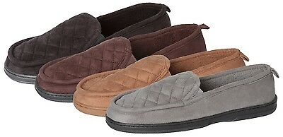 Wholesale Men's Slippers Lot of 30prs Suede Quilted Clog, Closed Back, FREE SHIP