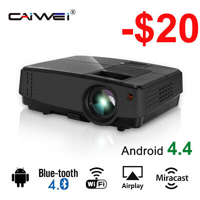 HD Mini LED Home Theater Projector Android Wifi Bluetooth Portable USB HDMI VGA