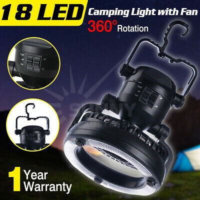 2-in-1 18 LED Camping Fan Light Combo Flashlight and Ceiling Fan for Outdoor