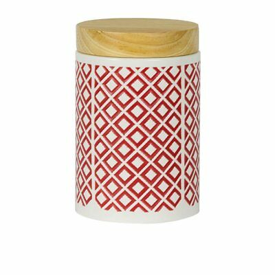 NEW Leaf & Bean Embossed Canister 1.15L Red