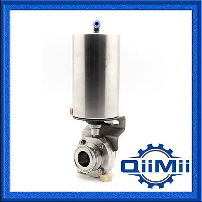 NEW DN40 Triclamp Sanitary Butterfly Valve With Pneumatic Actuator SUS304 Clamp