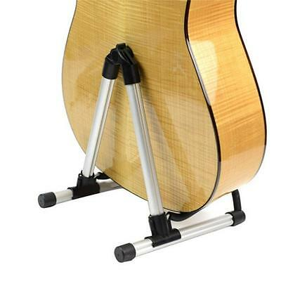 electric acoustic bass guitar stand portable folding a frame floor rack holder