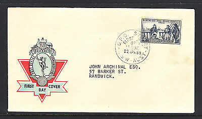 Fdc 1959 Birth Of Post Office  On 2 Different Colour Hermes Cachets.