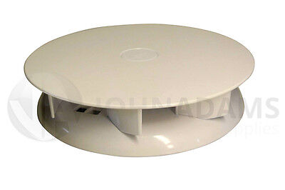 Wind Driven WHITE Roof Vent Low Profile Van Dog Pet Horse Vehicle 4x4 Air Rotary