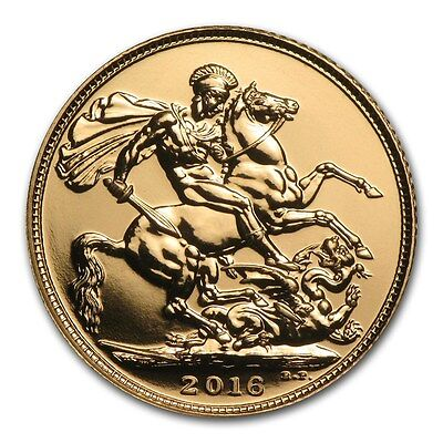 2016 Great Britain .9167 Gold Sovereign Coin - UNITED KINGDOM BULLION ROUND