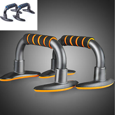 NEW PAIR FOAM HANDLE PUSHUPBARSHOME GYMSTANDSEXERCISE WORKOUT 4 Chest Arms