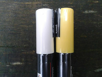 Queen Marking Pens. Qty 2 - White & Yellow