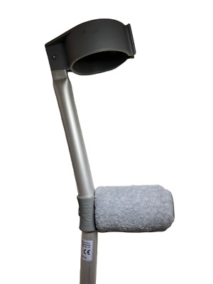 Padded Handle Comfy Crutch  Covers - Light Grey